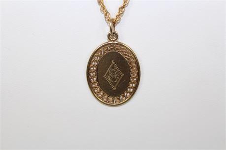 1/20 12GF Inscribed Pendant Necklace