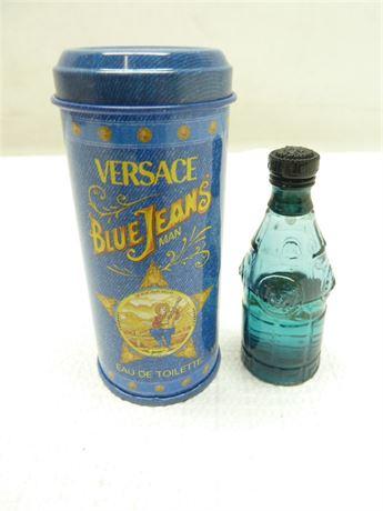 """Versace """"Blue Jeans Man"""" Eau De Toilette,In Can (Partial Vial)"""