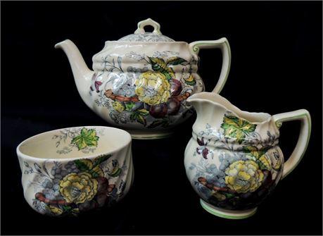 """Royal Doulton """"The Kirkwood"""" Teapot, Mini Creamer & Open Sugar Bowl"""