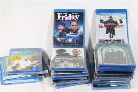 Lot of 20 Assorted Sealed Blu-Rays, Friday, Sonic The Hedgehog, Hateful Eight