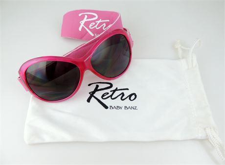 Retro Baby Banz 0-2 Years Pink Sunglasses (440-J)