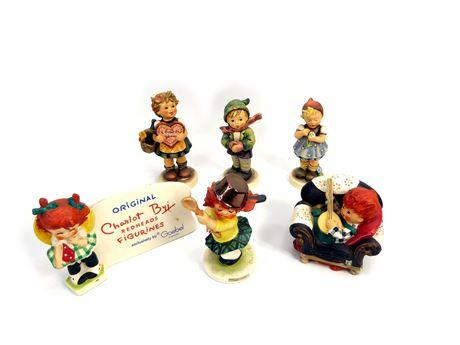 6 Vintage Goebel Figurines From W. Germany