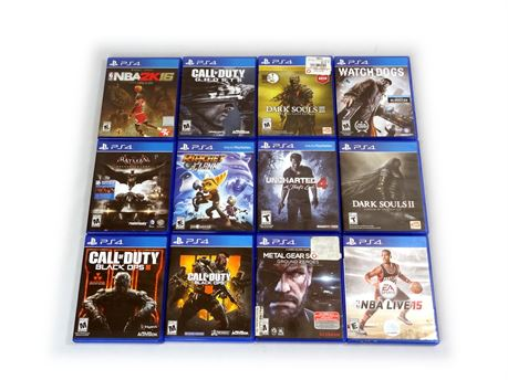 Lot of 12 PlayStation 4 PS4 Games Call of Duty Dark Souls Uncharted Metal Gear
