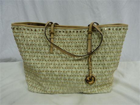 Michael Kors Studded Travel Tote Bag