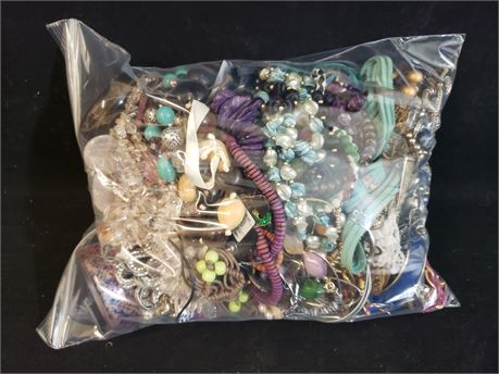 Lot Of Mixed Costume Jewelry. 10 Lbs. 9.3 oz. W/ Bag
