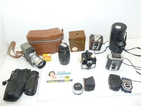Vintage Camera & Accessories Mixed Lot; Various Brands & Items(Parts & Repair)