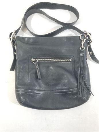Coach Black Natural Cowhide Leather Purse. 11 X 10 X 3
