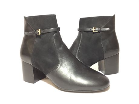 Cole Haan Black Leather Boot Heels For Women Size 7B