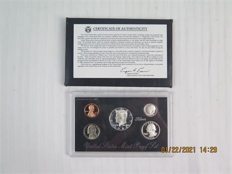 1991 United States Mint Silver Proof Set (670)