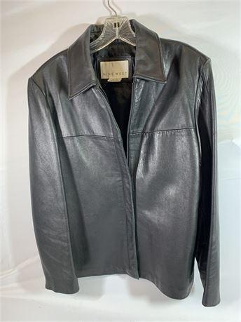 Nine West Leather Jacket Size XL