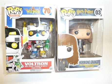 2 Funko Pop Kids,Voltron  #70 And Hermione Granger# 3 NIB