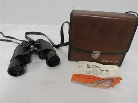Bushnell Sportview 7x35 Binoculars Fully Coated Optics Includes Case