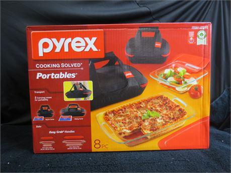 Brand New 8 Piece Pyrex Portables