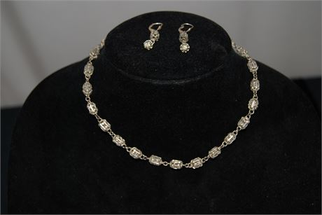 Sterling Silver Necklace and Earring set (500)