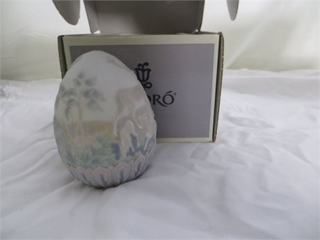"LLADRO:  17550, 1996 Limited Edition Egg, ""Huevo of Pascua"""