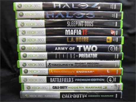 Lot of Xbox 360 Games: Shooter Games