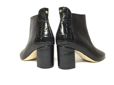 Cole Haan  Black Heel Boots With Embossed Leather For Women Size 7B