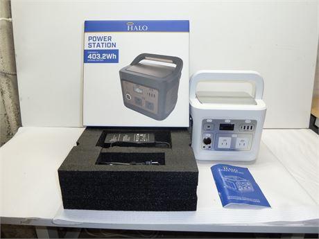 Halo,Portable Power Station: 403.2Wh Internal Battery M# PS-403 NIB