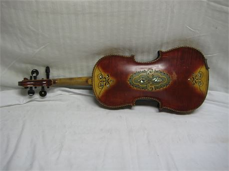 Unlabeled Stradivari Pattern Decorated Violin