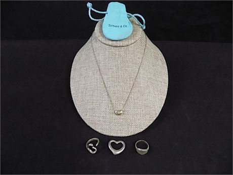 Tiffany & Co. 925 Small Jewelry Lot; 4 Pieces