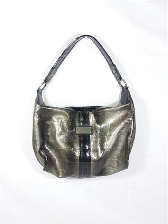 "Simply Vera Dark Gray Hobo Bag W/ Black Interior | 13 1/2"" X 10"" X 3"""