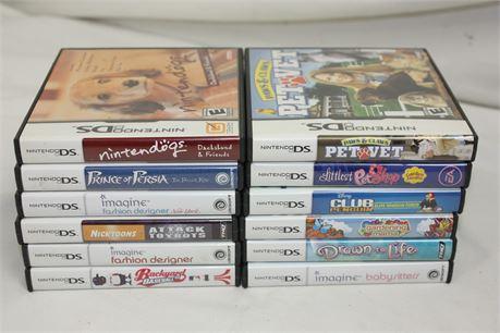 Lot of 12 Children's Nintendo DS Games