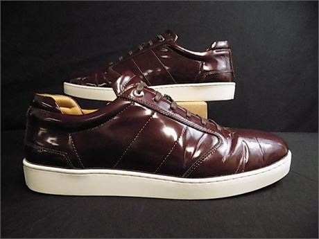 Want Les Essential-Lennon Patent-Leather Sneakers, Size:46