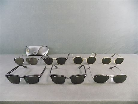 Ray-Ban 'Aviator' Based Sunglass Lot; 7 Pieces