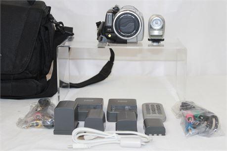 Canon Camcorder Full 1080p Digital Camera W/ Accessories