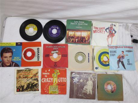 Lot of 45s 7 Inch Vinyl Records Lot H