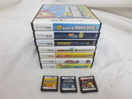 Lot of 10 Nintendo DS Games