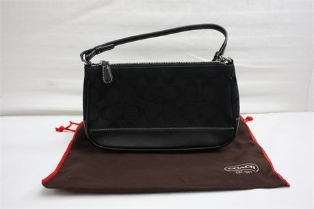 Coach Black/Gray Signature Demi Pouch (Unauthenticated, As is)