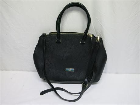 Jones New York Black Top-Handle/Cross-Body Bag