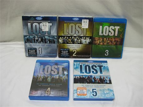 LOST Complete Season's 1-5 Blu-Ray Disc Sets