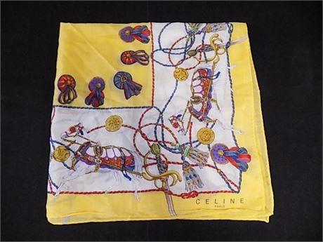 "Celine Paris Handkerchief 19x19"""