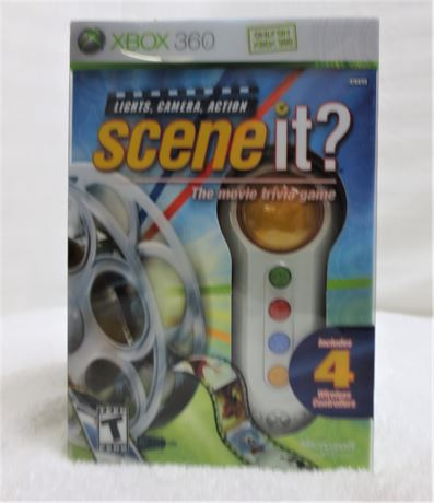 Scene It? Lights, Camera, Action Game with 4 Controllers. Brand New!