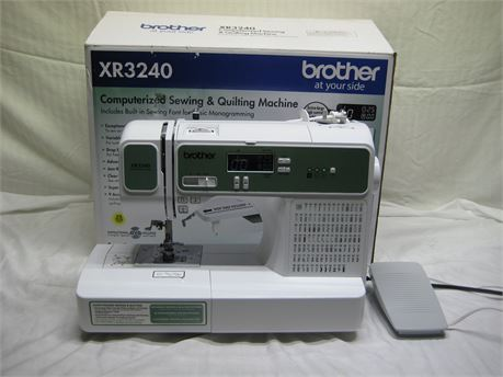 Brother XR3240 Computerized Sewing Machine With Foot Pedal