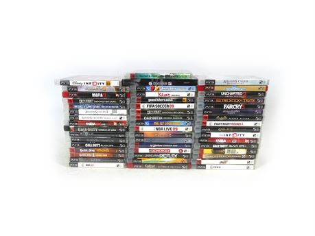|Lot of 49| PS3 Games Uncharted Call of Duty God of War FarCry Assassin's Creed