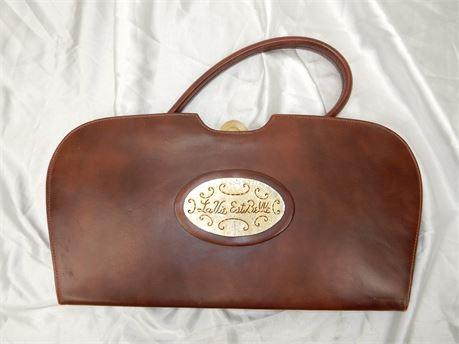 Vintage Triangle New York Top Handle Bag Purse
