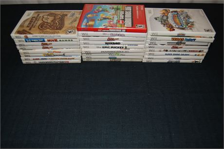 WII Game Lot (500)