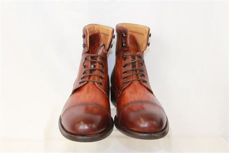 Magnanni Peyton Dyed Calf Leather Cap Toe Boot Size M