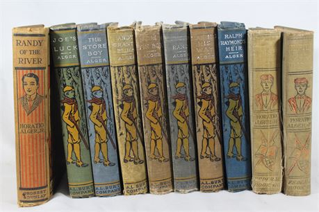 Lot of 10 Horatio Alger Books, From Early 1900s