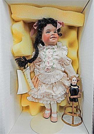 """Wendy Lawton ONLY OLIVIA 9"""" Doll ~ Jointed Wooden Body - MINT IN BOX"""
