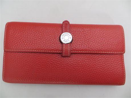 Hermes Women's Red Wallet