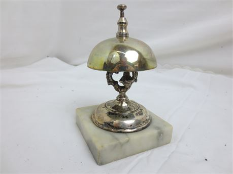 Silver Plated Call Bell on Marble
