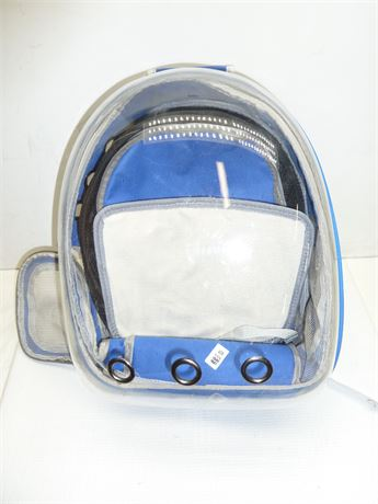 Beikott, Backpack Small Pet Carrier; See Through Plastic Back, Pre-Owned