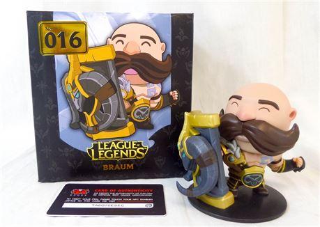 Riot League of Legends Braum Vinyl Figure #016 IOB w/Authenticity Card