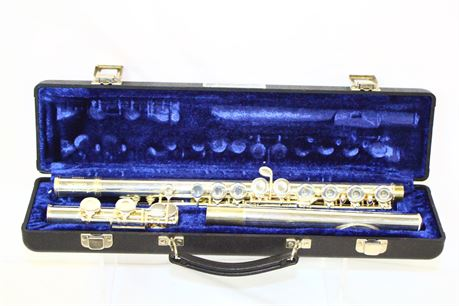 Elkhart W.T. Armstrong Silver Plated Flute W/ Case