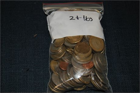 2lbs Misc. Foreign Money (500)