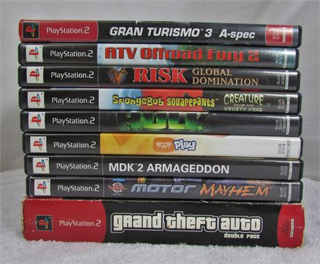 Lot of 9 PS2 Video Games.